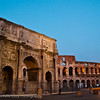 Arch of Constantine - 315 AD and Colosseum - 80 AD