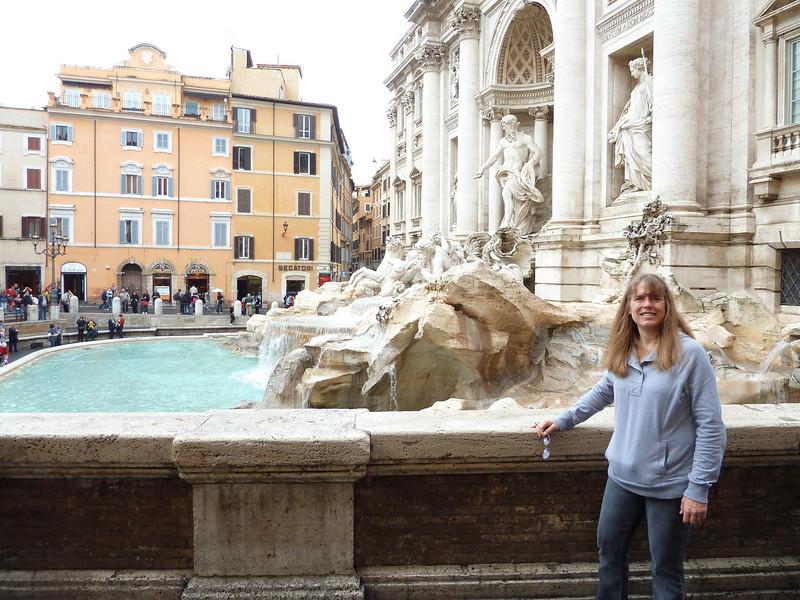 Debbie @ Trevi fountain 10-25-10