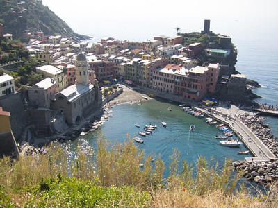 Vernazza harbor, from the Cinque Terre trail