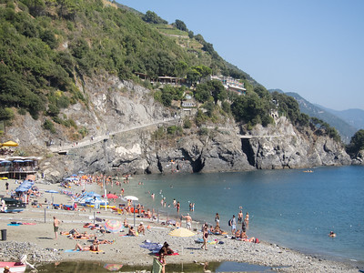 Monterosso, looking back at the trail