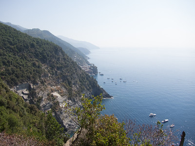 Cinque Terre trail, looking back at Vernazza
