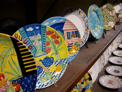 Display at Grazia's, Deruta