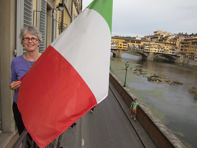 Florence, Hotel Berchielli with the Ponte Vecchio in the background