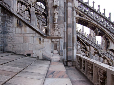 Passageway at the top of the Duomo, Milan