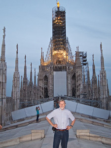 Gary at the top of the Duomo, Milan