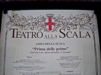 La Scala Opera House poster, Milan
