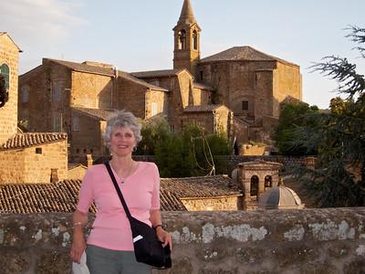 Kathie overlooking Orvieto