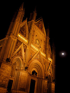 Cathedral with blue moon, Orvieto