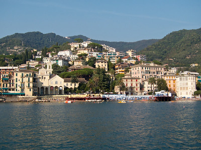 Santa Margherita Ligure, from the ferry to Rapallo
