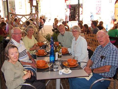 San Gimignano lunch (with Nev & Deanna Griffin, Norman & Elaine Dyson)