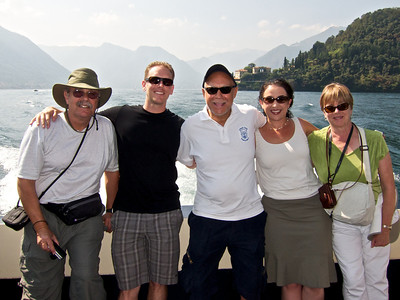 Lake Como tour (with Mark, Josh, & Phyllis Highman, & Donielle Borgo)