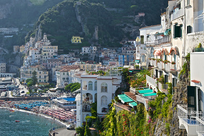 Amalfi from hotel window
