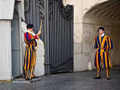 Swiss Guard at the Vatican, Rome