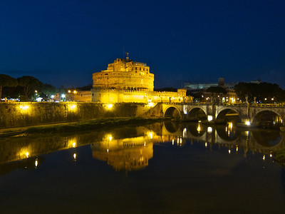 Castel SantAngelo and Bridge, Rome