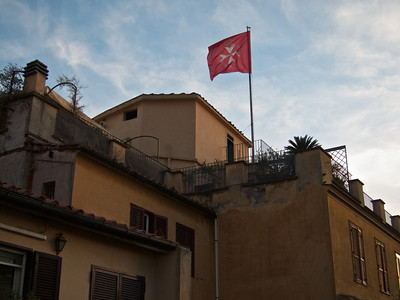 Rooftop flag, Rome