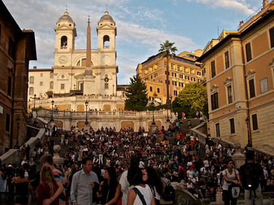Tourists at Spanish Steps, Rome
