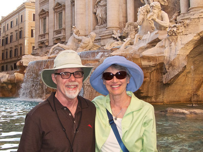 Gary and Kathie at Trevi Fountain, Rome