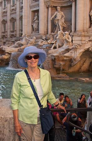 Kathie at Trevi Fountain, Rome