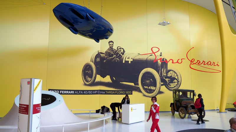 An exhibit inside the Enzo Ferrari Museum