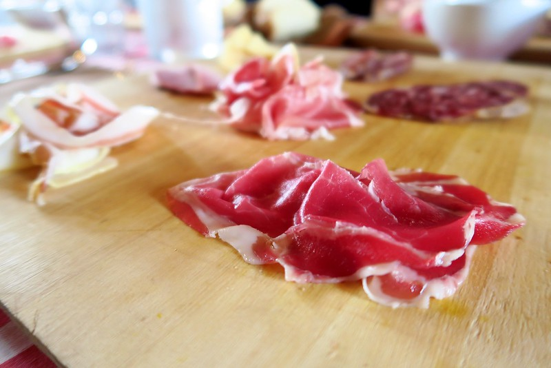 Sampling Culatello di Zibello in Emilia-Romagna