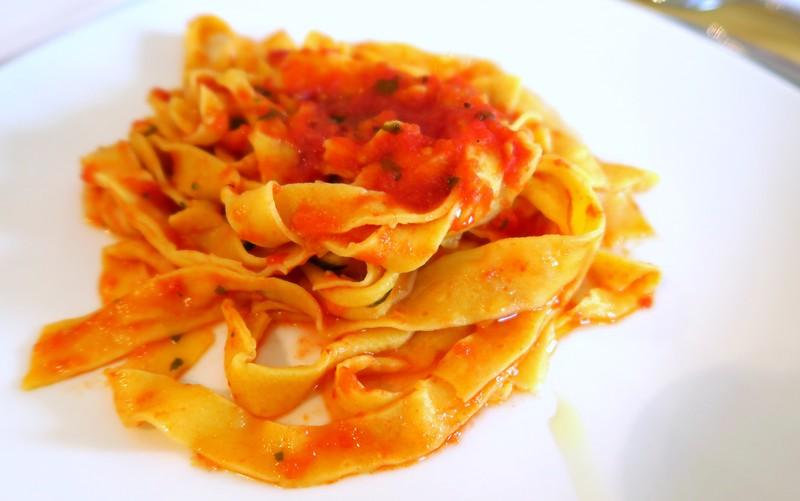 Enjoy tagliatelle for lunch.