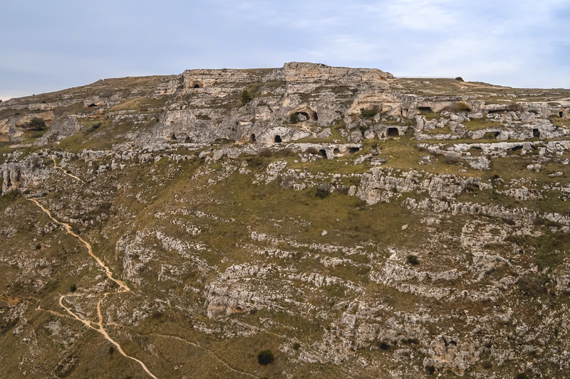 Cave dwellings in Murgia National Park, Matera.