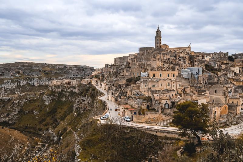 Scenic views of Matera.