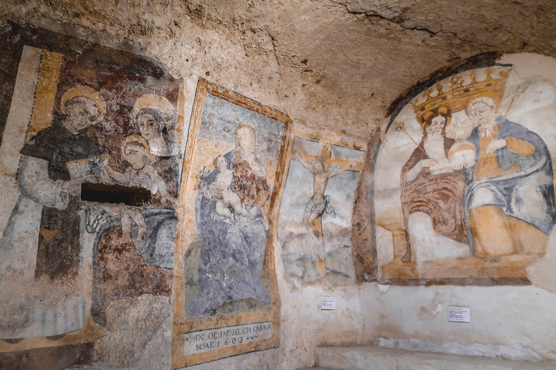 The Convento di Sant'Agostino in Matera has frescoes that date back to the Middle Ages.