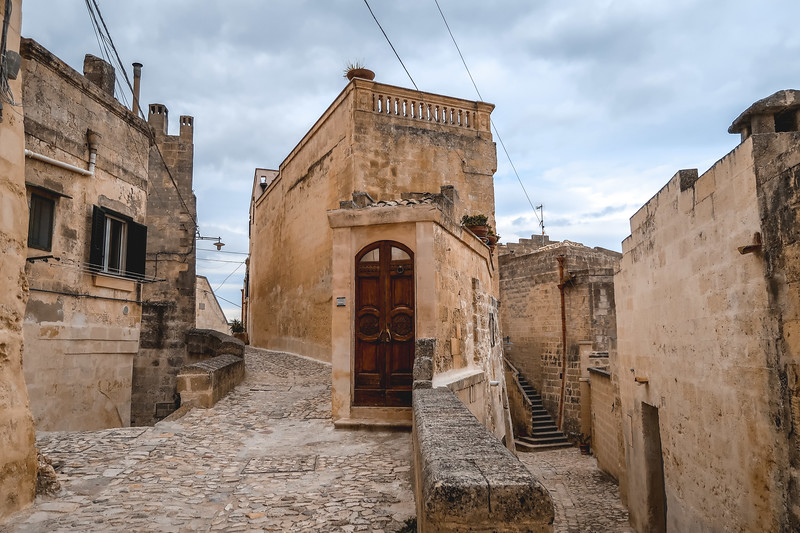 The ancient streets of Matera.