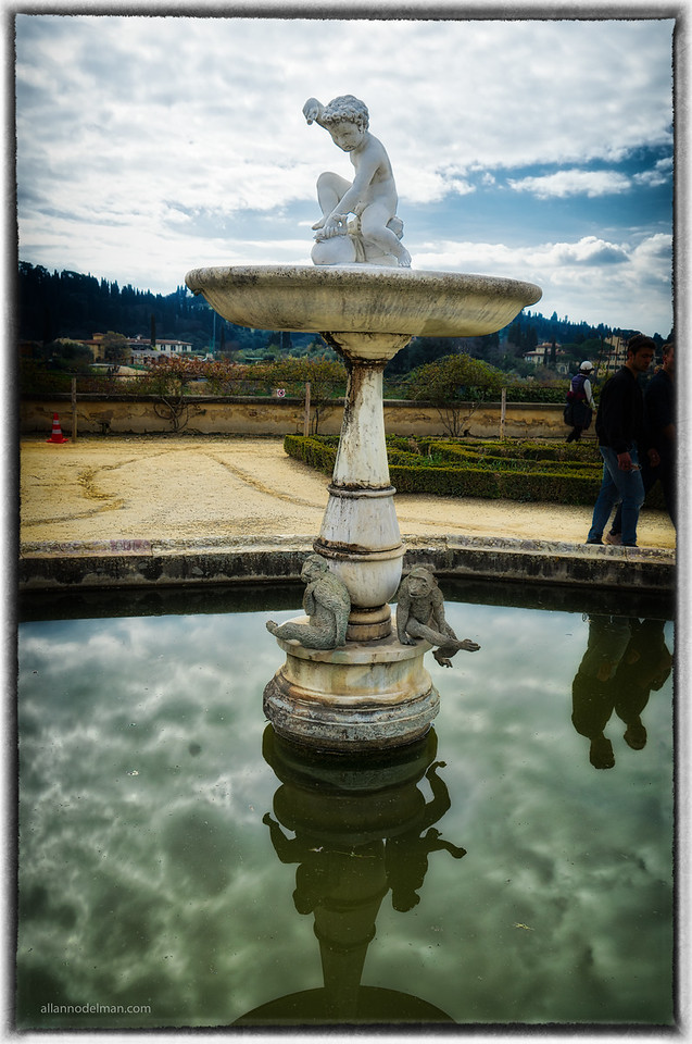 Fountain in Boboli Gardens at Pitti Palace Florence