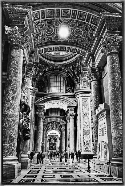 St. Peter's  in B&W
