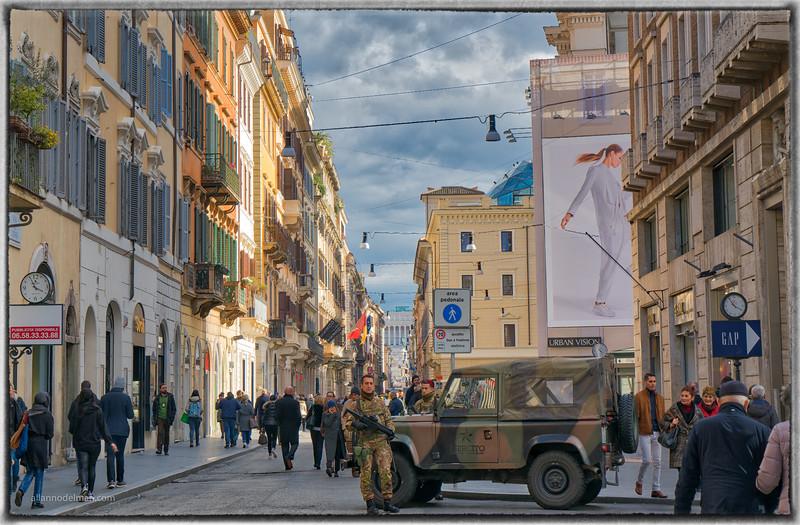 Police Presence in Rome