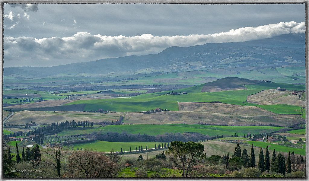 Tuscan Landscape From Pienza