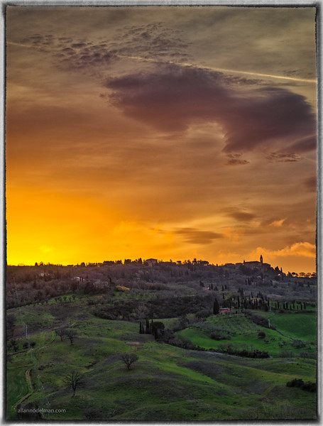 Sunrise Over Pienza