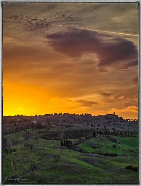 Sunrise Over Pienza