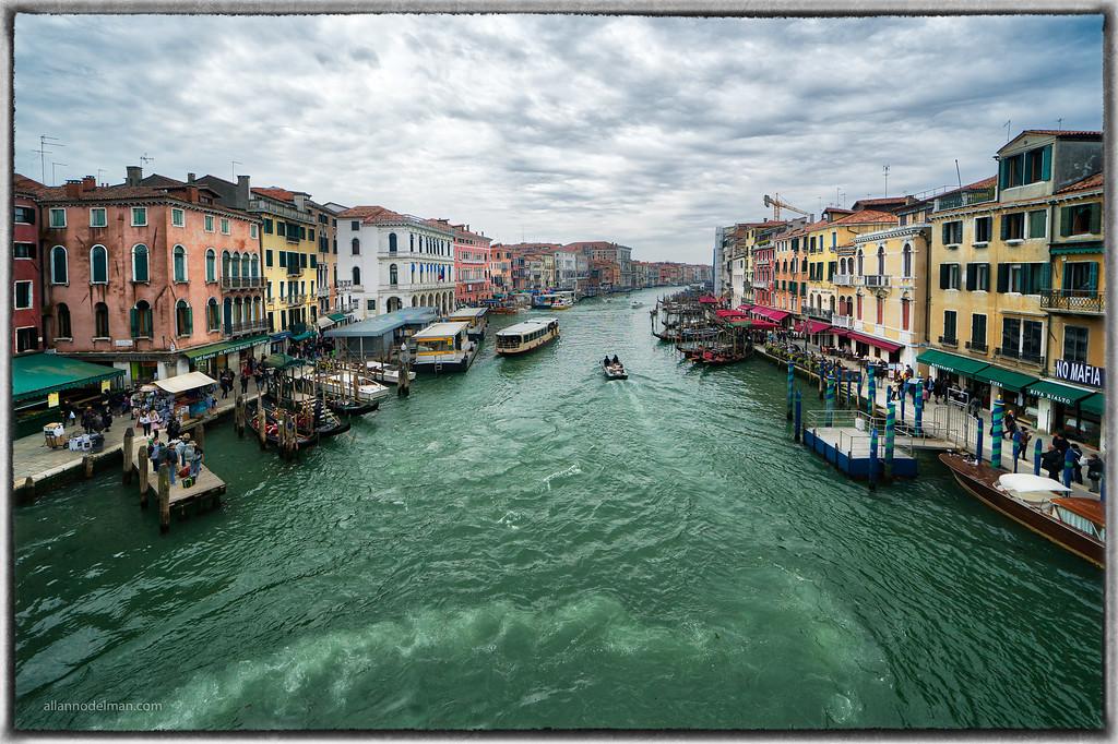 Grand Canal From Rialto Bridge Venice