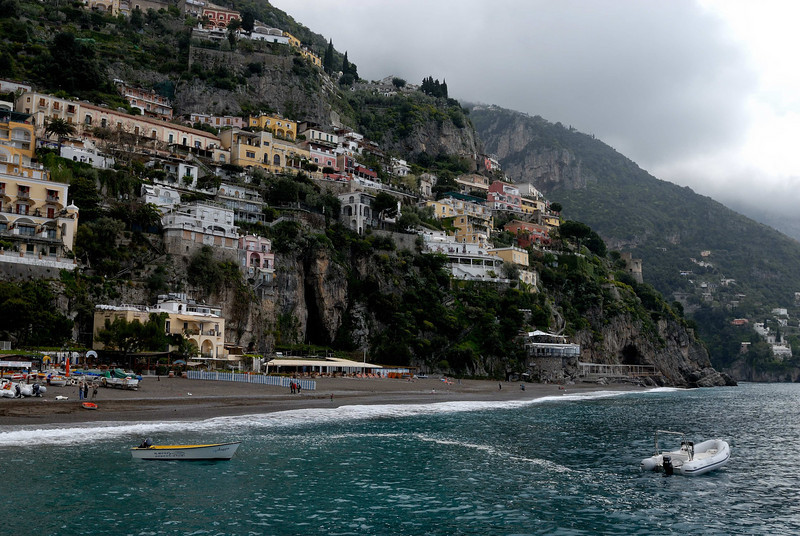 We traveled from Positano to the town of Amalfi by boat - a great way to see the coastline