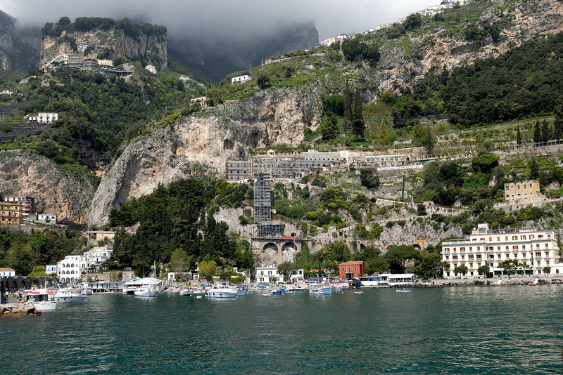 Arriving at the marina in Amalfi