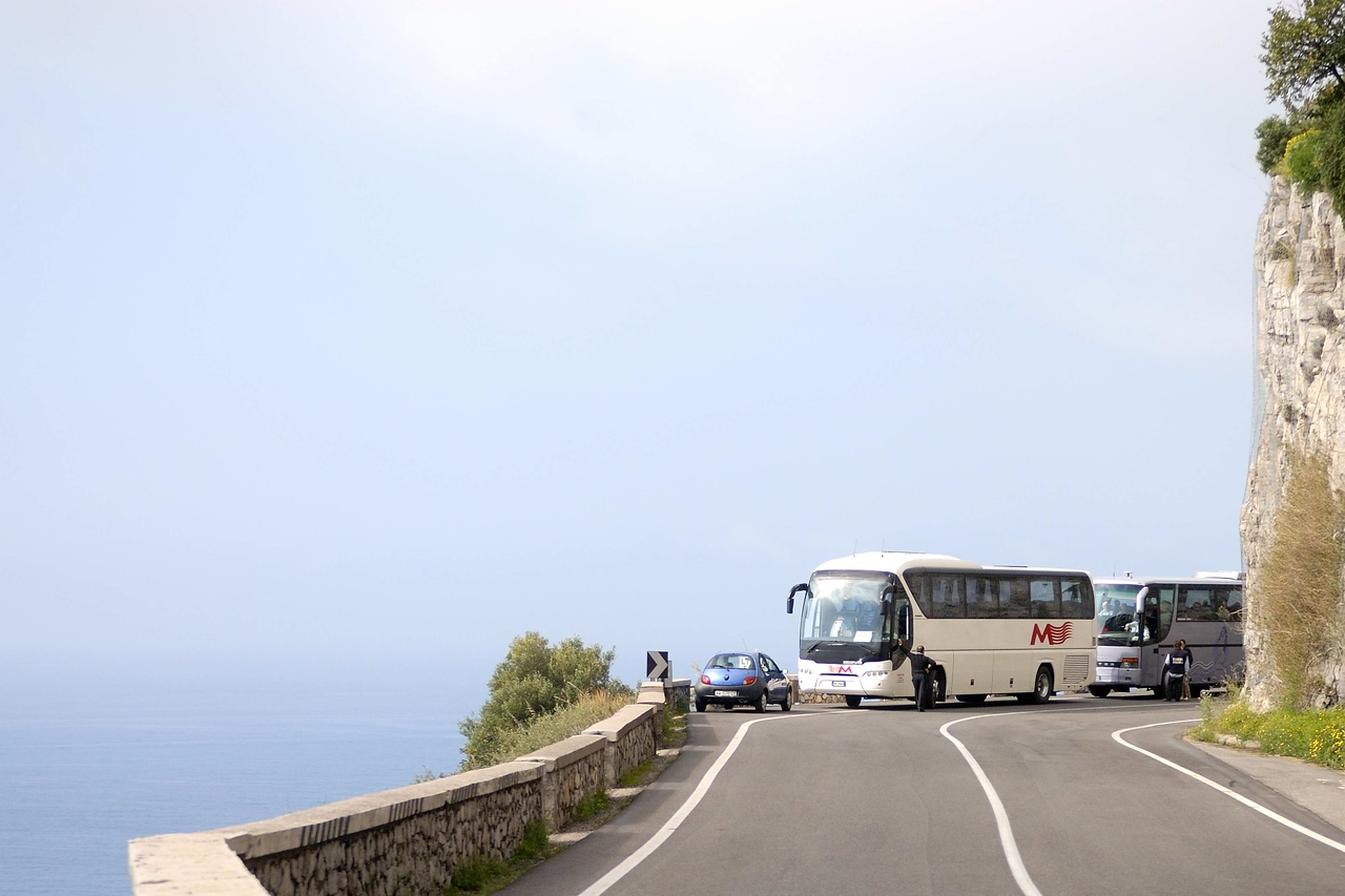 "The road from Sorrento south along the Amalfi coast is narrow and filled with what our guides called ""mamma mia!"" corners."