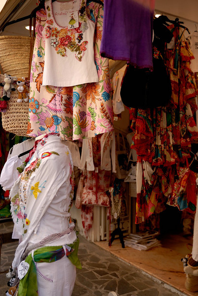 Positano fashions evolved from when the town was very poor and clothes were made from parts of old clothes