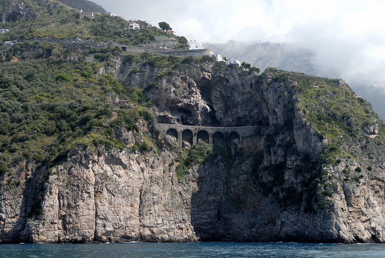A bridge and tunnel for the narrow coast highway