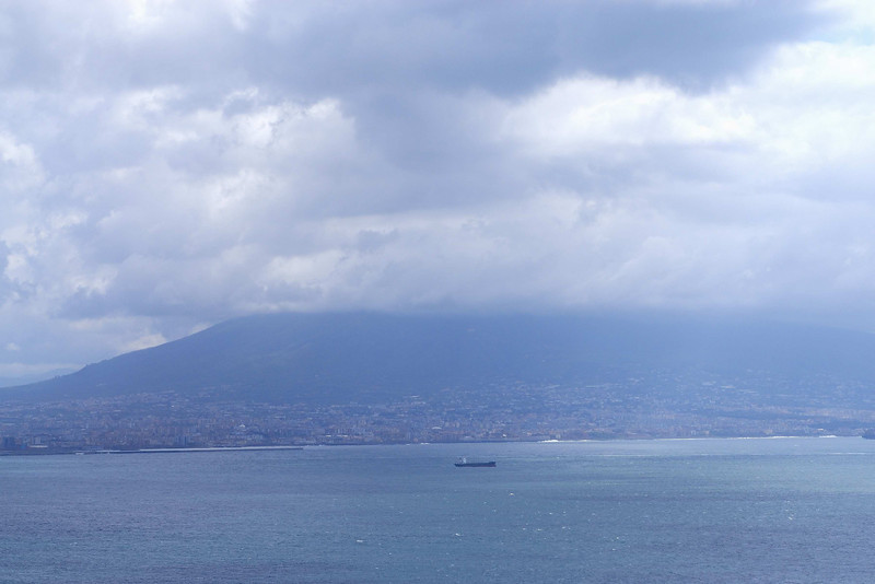 Mt Vesuvius seen from Naples