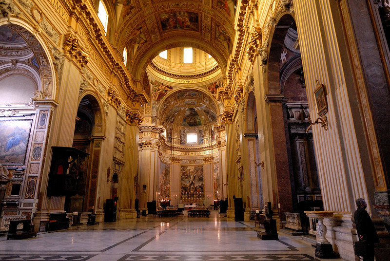 A church of no special acclaim but with a magnificant interior - one of 800 churches in Rome