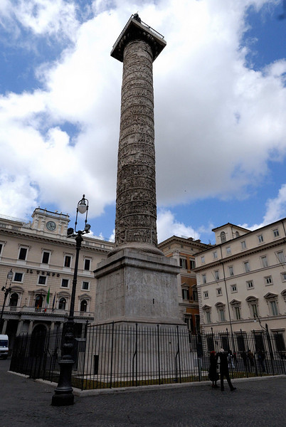 Piazza Colonna is a piazza at the center of Rome. The column has stood at this location since AD 193.