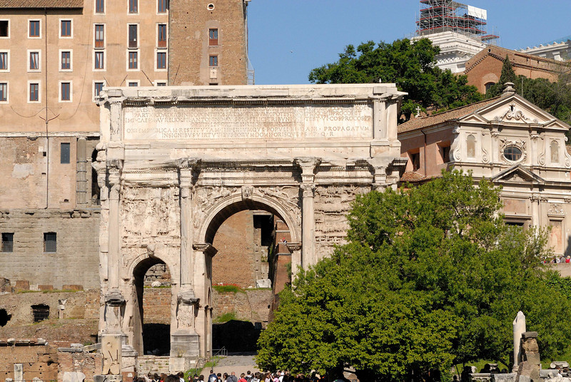 Arch of Septimius Severus, AD 203, built to celebrate victory over the Parthians