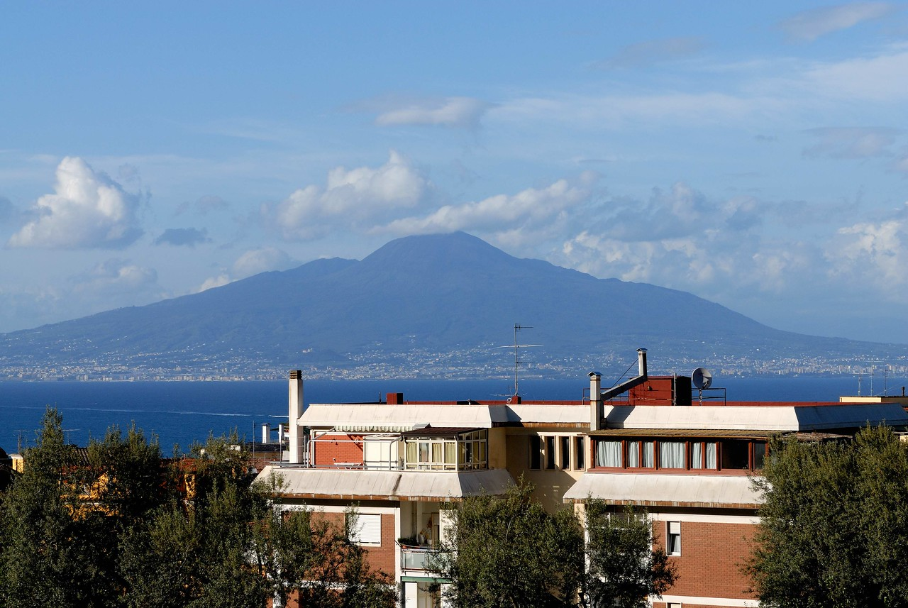 Mt Vesuvius from our hotel in Sorrento