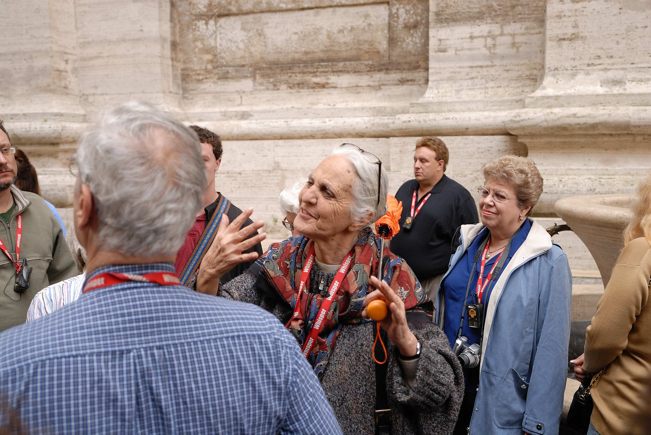 Our Vatican tour guide, Norah, knows more about the Vatican than one can absorb
