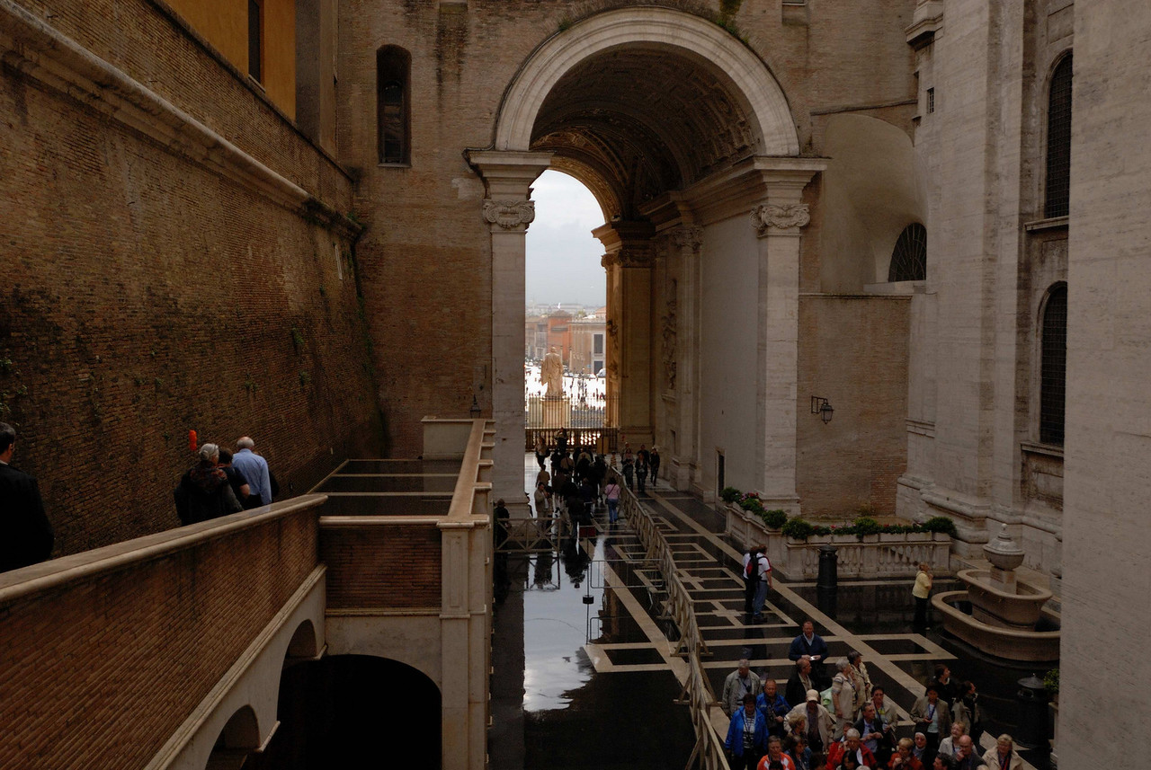 Between the museum and St Peter's