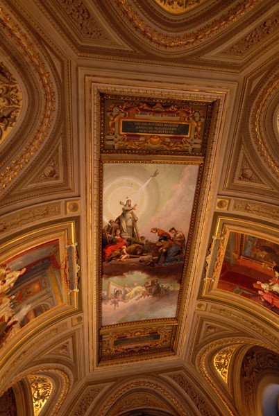 The Vatican Museum, richly decorated, and beautiful floor to ceiling