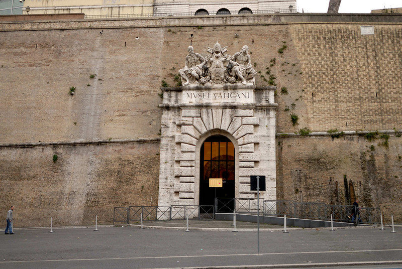 The entrance to the Vatican Museum - or the tour entrance at least